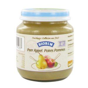 JoannusBiobim Puree Pomme-Poire 125g (>4 mois) sans gluten -sans lactose