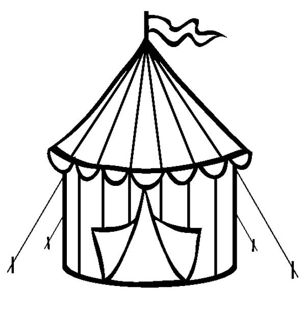 Circus Tent Is Open At Circus And Carnival Coloring Pages Bulk Color