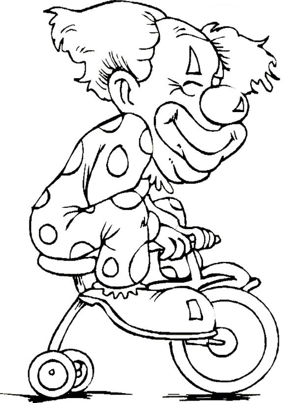 Circus And Carnival Clown Coloring Pages For Kids Bulk Color