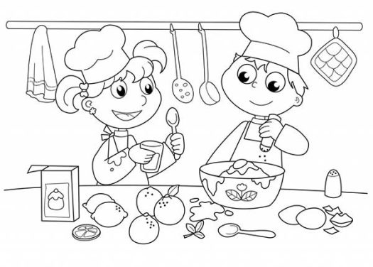 Baking Coloring Pages