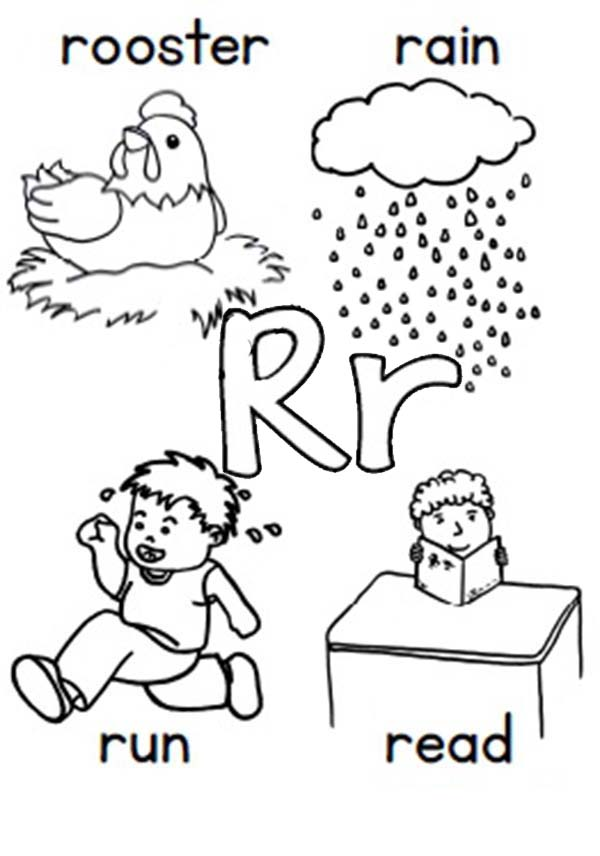 lower case letter r coloring pages coloring pages
