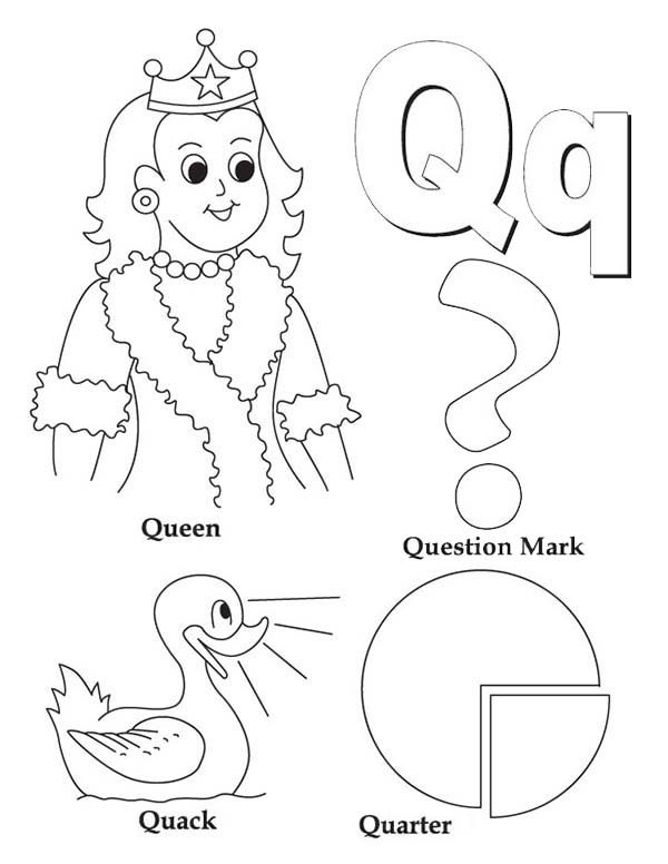 letter q quail craft template sketch coloring page