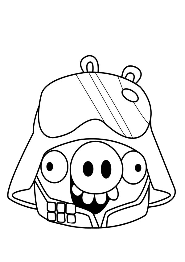 Angry Bird Pigs As Darth Vader Coloring Pages Bulk Color