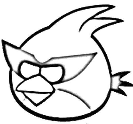 Angry Birds Coloring Pages Red Bird