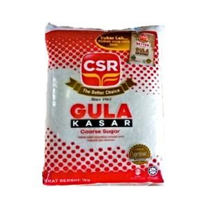 CSR Gula Kasar (Coarse Sugar) - 1 kg x 24 pck x 1 bdl