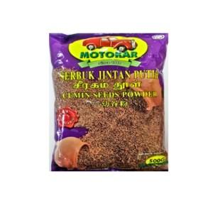 Motokar Serbuk Jintan Putih (Cumin Seed Powder) - 500 gm x 12 pck x 1 bdl