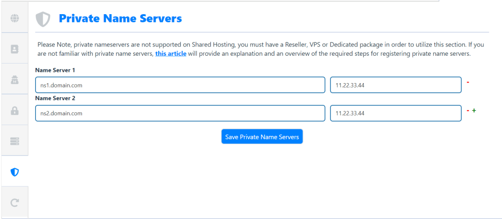 Save-Private-Name-Servers