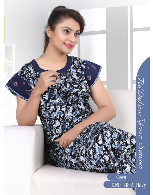 Rs 450 Piece - Trendy-218 Wholesale Night Gown Catalog 06 pcs