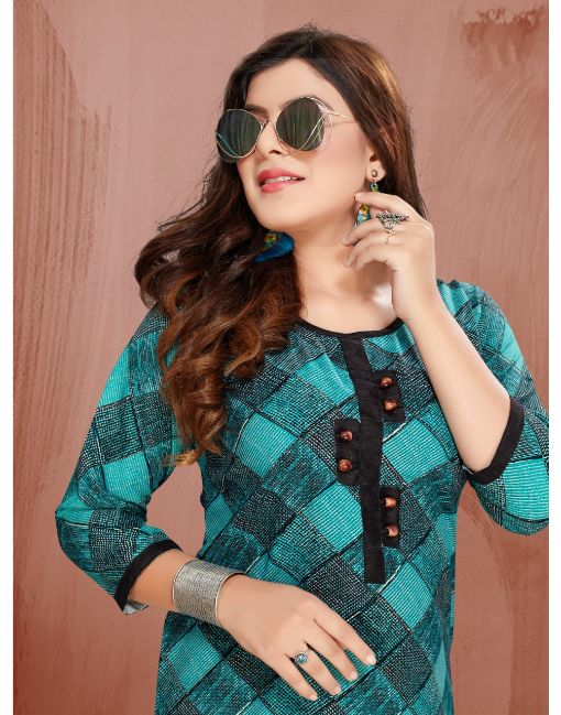 Rs 340 Pc Puma 2 Stitched Kurti Wholesale Catalog 06 pcs