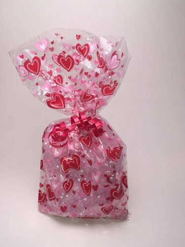 Valentines Day Hearts Bath Salts Gift Bag