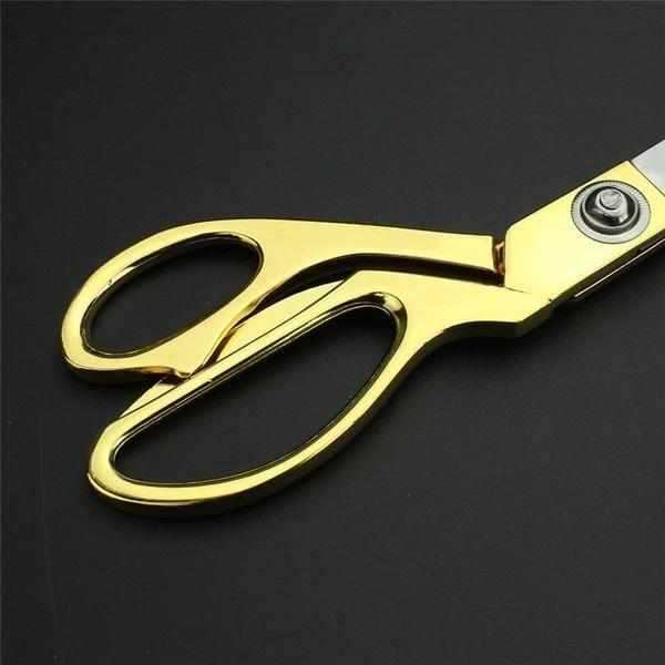 1546 Stainless Steel Tailoring Scissor Sharp Cloth Cutting for Professionals (8.5inch) (Golden) - Bulkysellers.com
