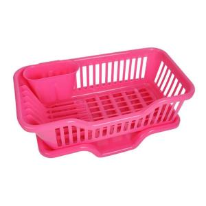 0747 (Small) Plastic Sink Dish Drainer Drying Rack - Bulkysellers.com