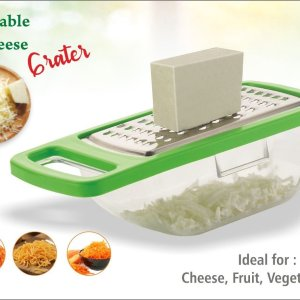 0660  Cheese Grater/Slicer/Chopper With Stainless Steel Blades - Bulkysellers.com