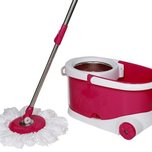 0837 Spin Bucket Mop with Refills for All Type of Floors - Bulkysellers.com