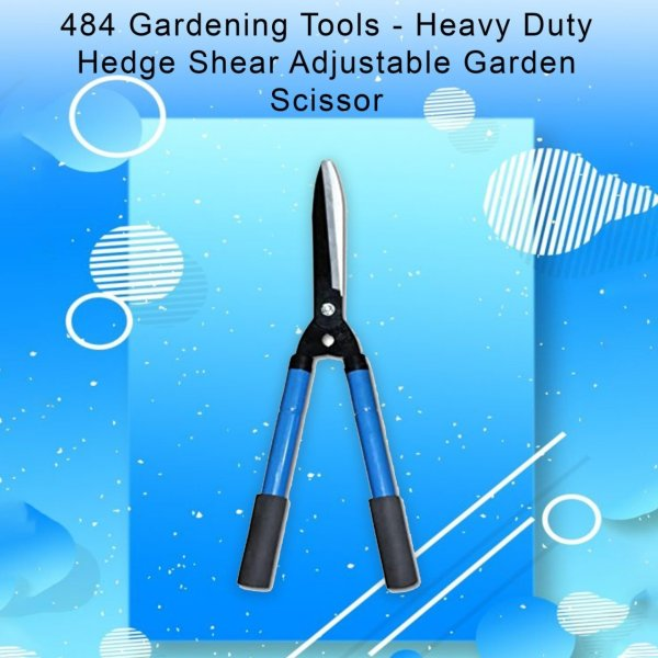 0484 Gardening Tools - Heavy Duty Hedge Shear Adjustable Garden Scissor with Comfort Grip Handle - Bulkysellers.com