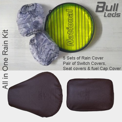 Bull-LEDs | Set of 5 Kit - Pair of Switch,Seat Covers & FuelCap Cover
