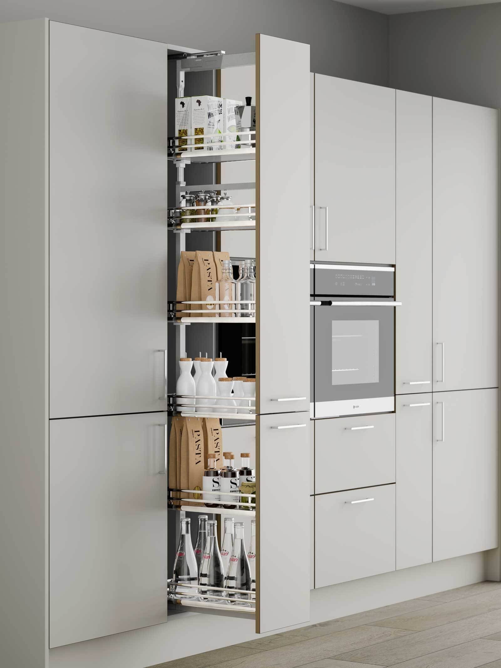 Innostor Plus Soft Close Pull Out Larder With Solid Base