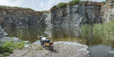 An abandoned quarry on Jhansi-Lalitpur road.