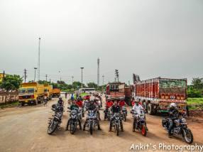 Bulleteers ride with Taj Royals, Agra, to Dev Kho, Gwalior, near tighra dam
