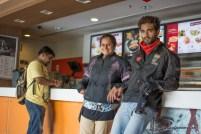 Bulleteers on breakfast ride from Gwalior to Agra