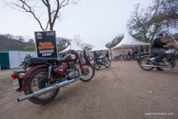 The royal enfield service camp at rider mania 2015