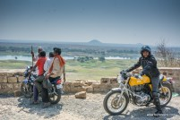 bulleteer mragendra chaturvedi on a royal enfield continental gt, while on the way to pagara dam