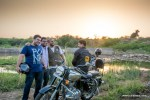 bulleteers ride to tighra dam, gwalior on their royal enfields