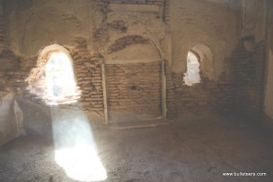 sunlight coming through a broken window at the gohad fort