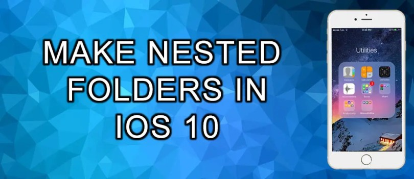 create nested folders iphone