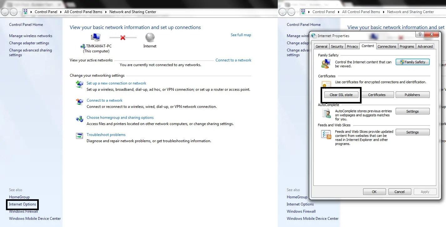How to fix error 107 SSL Protection Error on Windows - Bullet In