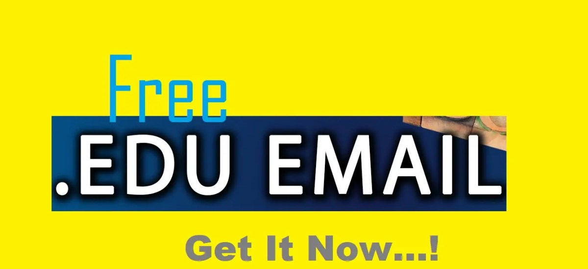 How Can I Get A free .EDU Email Address - (Latest in 2018)