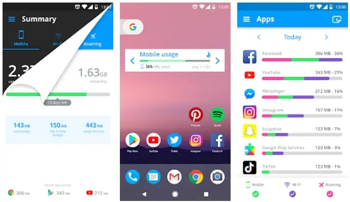 Mobile data usage apps android