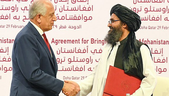 Agreement between US and Talibanb