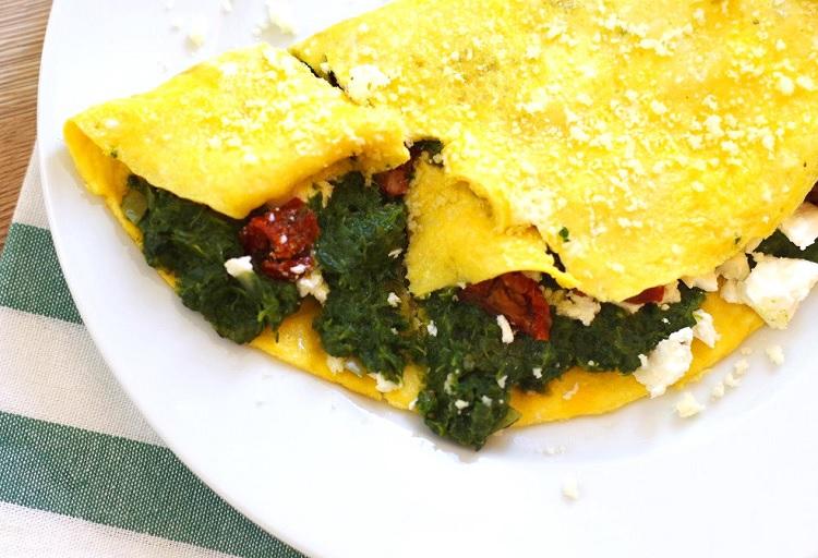 Omlet ze szpinakiem 3