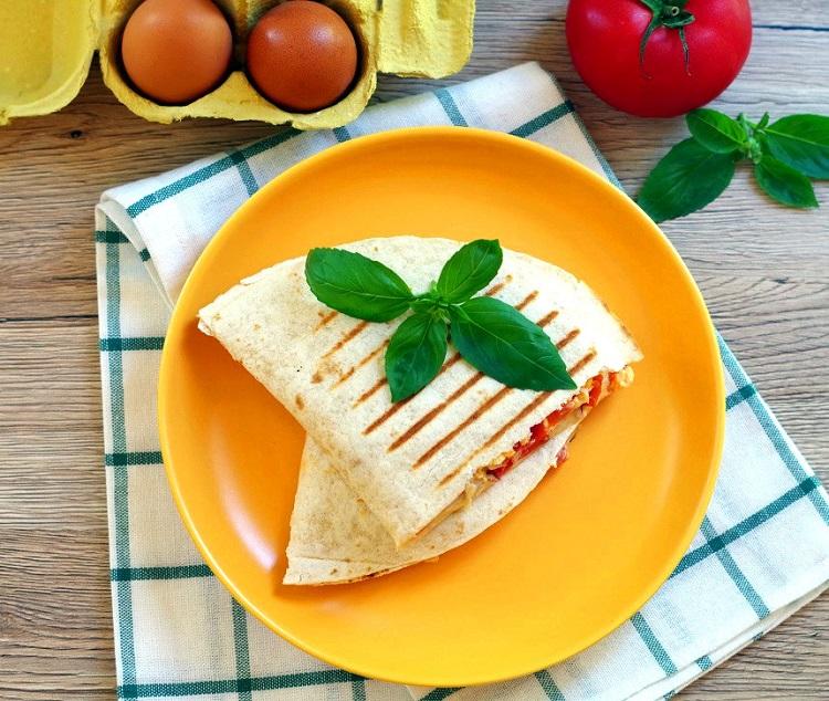Quesadilla z jajecznicą 2