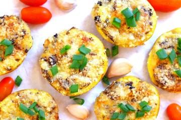 Ziemniaki zapiekane z pieczarkami i mozzarellą 2