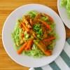 Makaron ryżowy z soją i marchewką