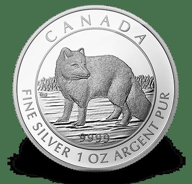 2014 - $5 1 oz. Fine Silver Coin - Arctic Fox