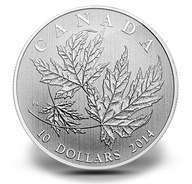 2014 - $10 Fine Silver coin - Maple Leaf
