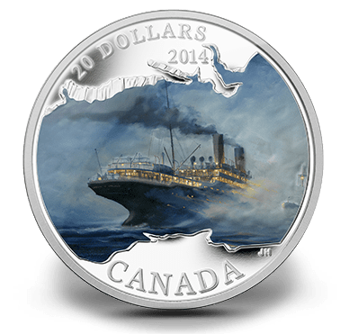 2014 - $20 Fine Silver Coin - Lost Ships in Canadian Waters - R.M.S. Empress of Ireland
