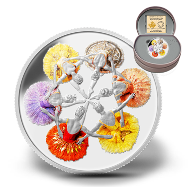 2014 - $20 1oz. Fine Silver coin - 75th Anniversary of The Royal Winnipeg Ballet