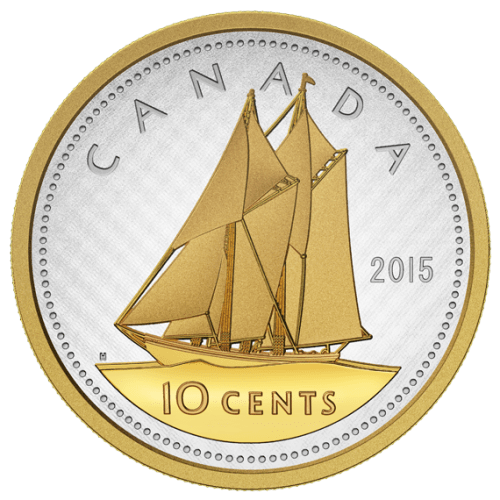 2015 - 10 Cent Fine Silver Coin - Big Coin Series