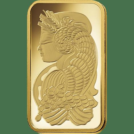 Gold Fortuna 1 Tola PAMP Bar