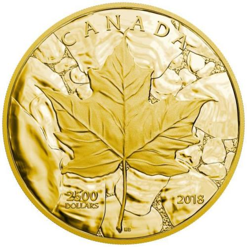 2018 $2,500 PURE GOLD COIN SUGAR MAPLE MAJESTY