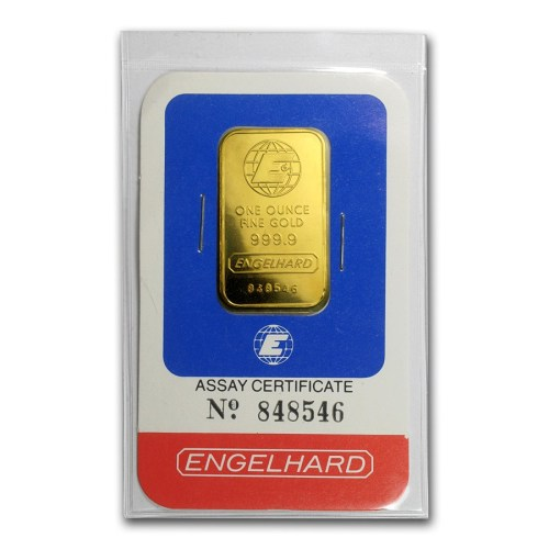 1 Oz Engelhard Gold Bar