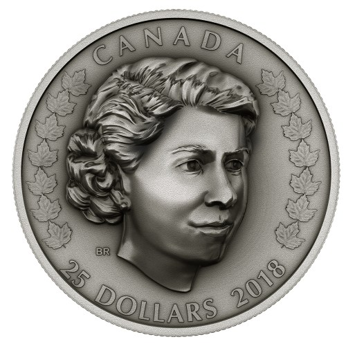 2018 $25 Fine Silver Coin - Her Majesty Queen Elizabeth Ii: The New Queen
