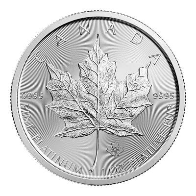 1 Oz 2018 Canadian Maple Leaf Platinum Coin