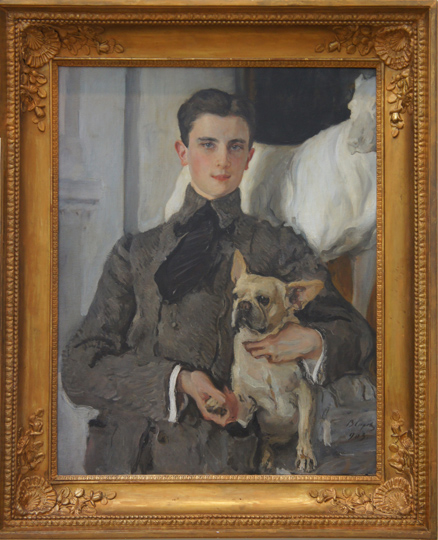 Prince Felix Yusupov and Gugusse in Serov Portrait