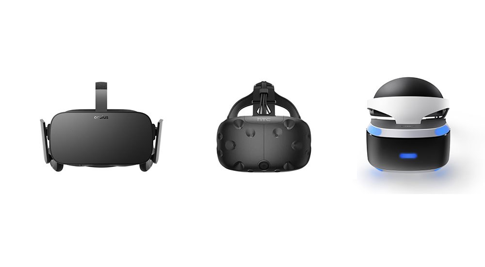 I tre visori high-end per le tecnologie disruptive quale la virtual reality