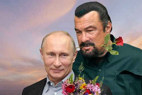 A recently declassified photo of Putin and Seagal's wedding.